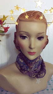 Hand Knit Plum Blossom Pullover Scarf