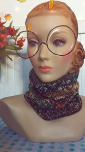 Hand Knit Autumn Pullover Scarf