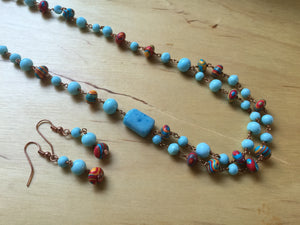 Autumn Sky Necklace Set
