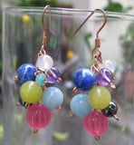 Insouciant Studios Rainbow Bubble Earring and Bracelet Set Gemstones