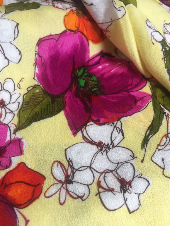 Vintage 70s Floral Fabric