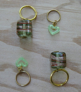 Green With Envy Knitting Stitch Markers
