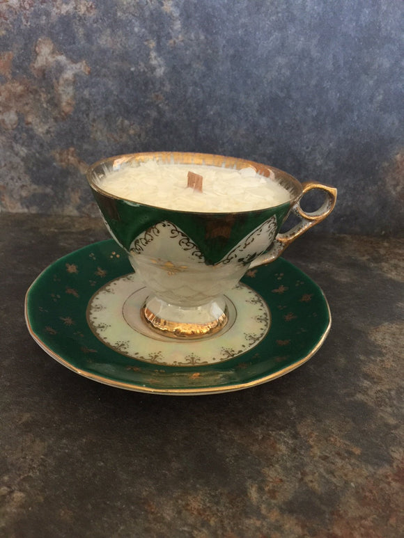 Mermaid Treasure Teacup Candle