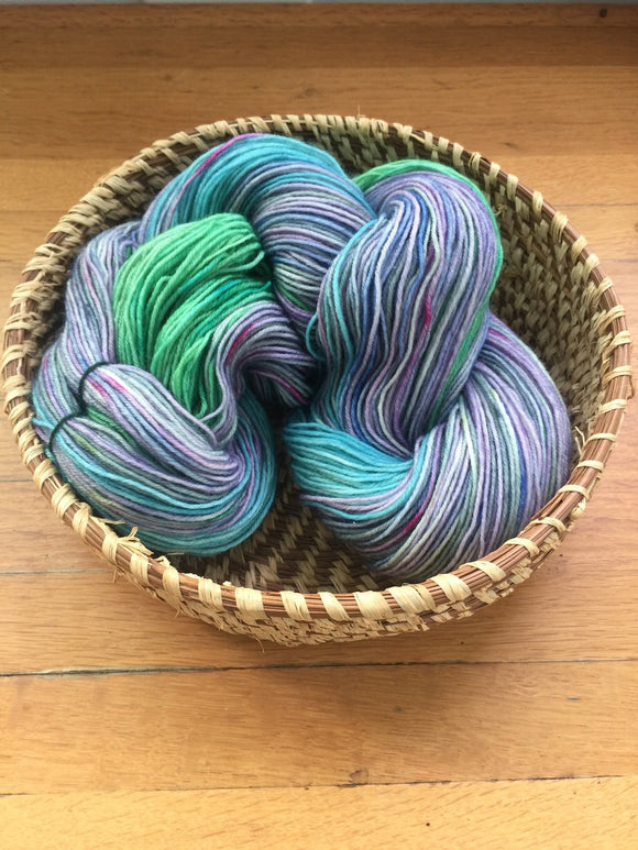 Hand Dyed Sock Yarn Quickening