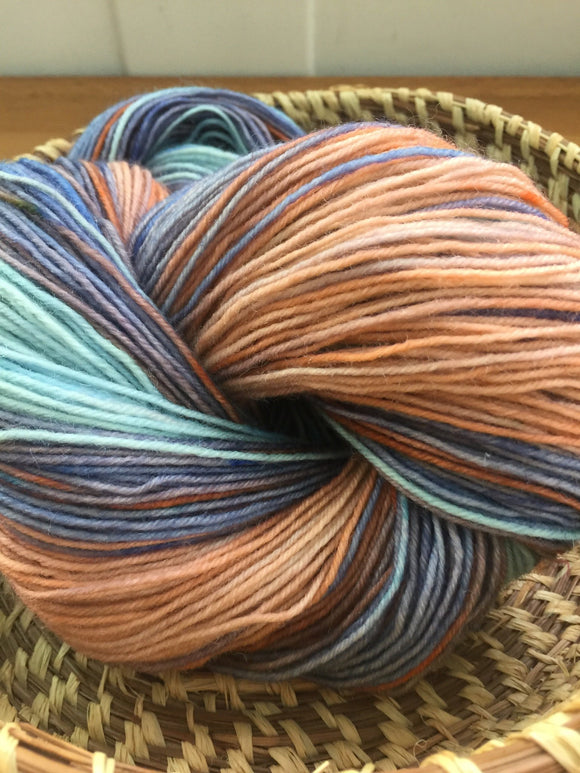 Hand Dyed Sock Yarn Conch