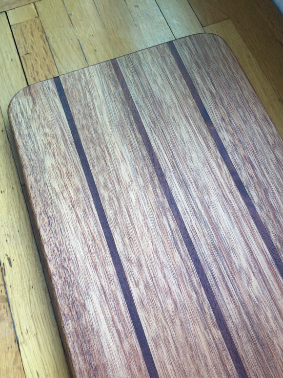 Large Mahogany and Walnut Cutting and Serving Board
