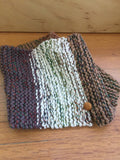 Hand Knit Cotton Wool Pullover Scarf