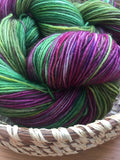 Hand Dyed Sock Yarn Dahlia