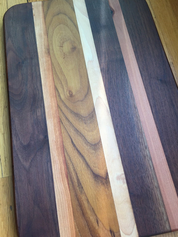 Large Walnut, Madrone, and Locust Board