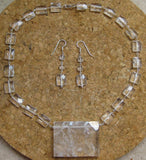 Insouciant Studios Igloo Earrings and Necklace Set in Quartz