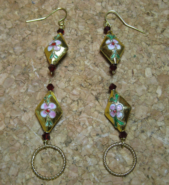 Woolpops Beijing Stitch Markers and Earrings Set