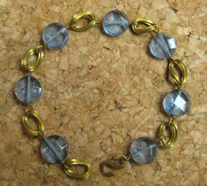 Insouciant Studios Lake Side Bracelet Brass and Lavender Quartz