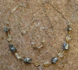 Insouciant Studios Totem Necklace Citrine and Pyrite