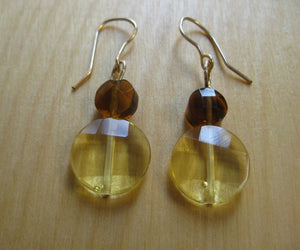 Insouciant Studios Daybreak Earrings Set Yellow  and Ocher