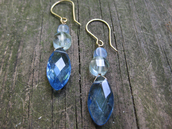 Insouciant Studios Blue Sky Earrings 14k Gold