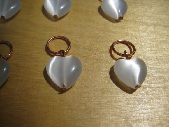 Luminous Heart Knitting Stitch Markers