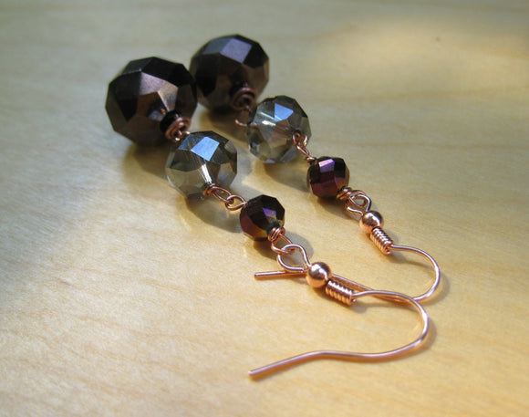 Insouciant Studios Turning Leaves 2 Earrings Autumn Crystal