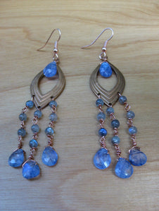 Aeris Earrings Labradorite