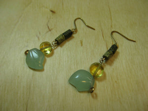 Insouciant Studios Vine earrings 14k gold filled jade agate citrine