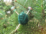 Woolpops Extra Miniature Yarn Ball and Knitting Needle Holiday Ornament