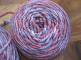 Hand DyedWinter Berry Worsted Yarn Merino Alpaca