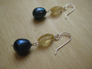 Insouciant Studios Dockside Earrings Sterling Silver Pearl