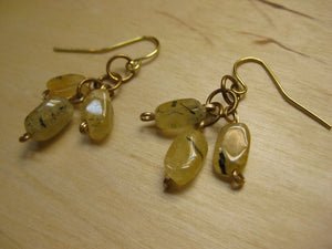 Insouciant Studios Sunshine and Daisies Earrings Rutilated Quartz