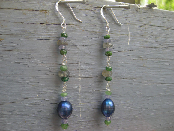 Insouciant Studios Bluegrass Earrings Sterling Silver Pearl