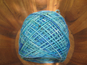 Hand Dyed Worsted Bluesy Tweed Yarn