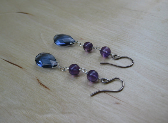 Insouciant Studios Bluesy Earrings Sterling Silver