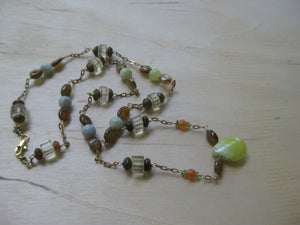Autumnal Necklace Tourmaline Lemon Quartz