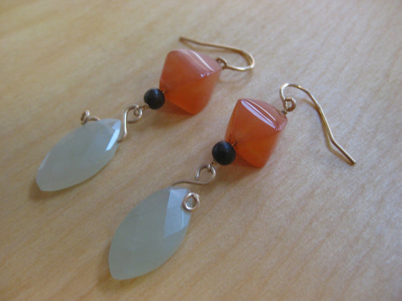 Insouciant Studios Persimmon Lantern Earrings