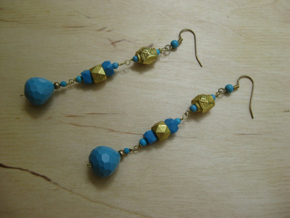 Insouciant Studios Deco Turquoise Earrings