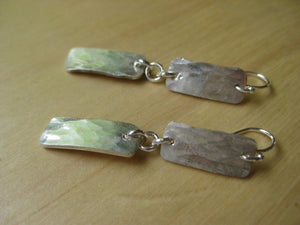 Insouciant Studios Hammered Earrings Recycled Sterling Silver