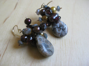 Cora Fossil Coral Earrings