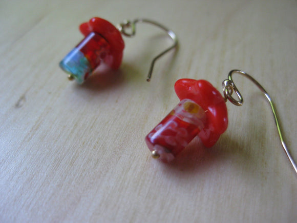 Alice Millefiori Mushroom Earrings