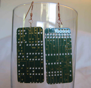 Insouciant Studios slashDot Earrings Computer Technology Electronics Recycled ReUsed