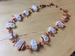 Insouciant Studios Glimmer Necklace Biwa Pearl Wedding Statement
