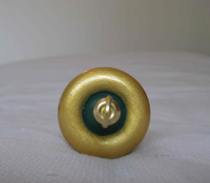 Handpainted Wooden Top Whorl Drop Spindle