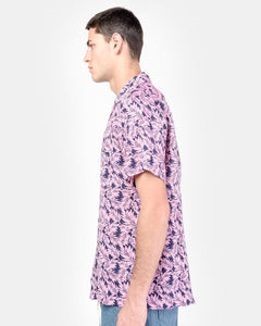 Camp Shirt in Pink Linen Floral