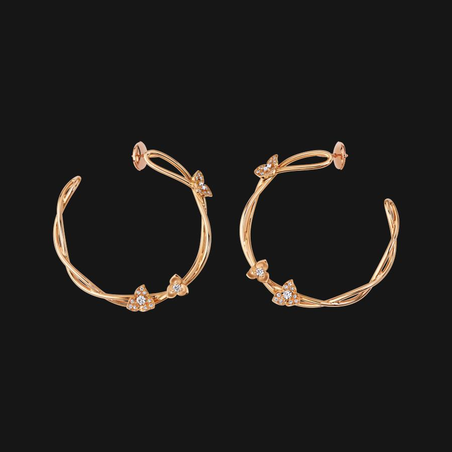 18k Intertwined Earrings