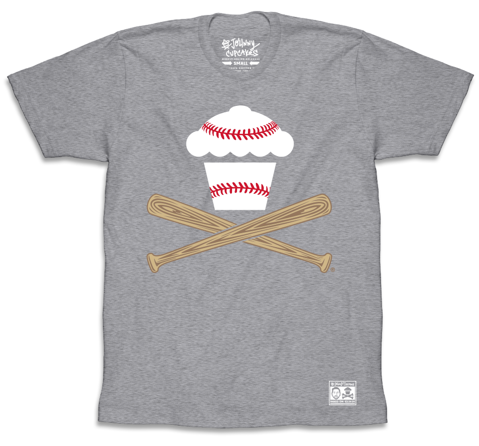 Baseball Crossbones - Heather Grey