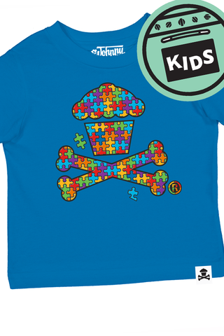 Autism Awareness Crossbones Kids