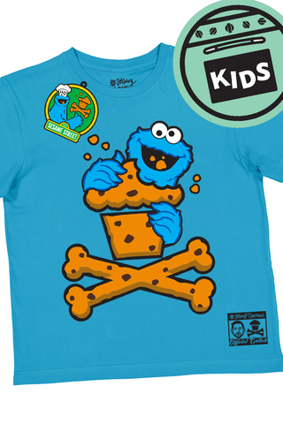 KIDS Cookie Monster Crossbones