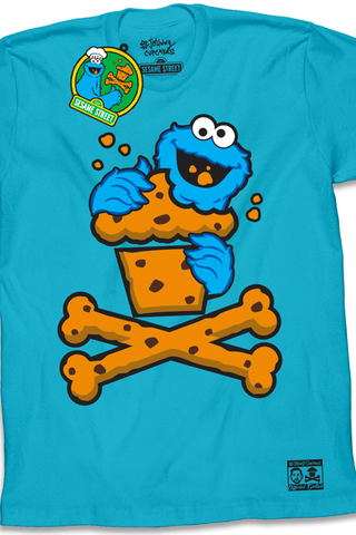 Cookie Monster Crossbones