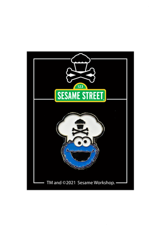 Chef Cookie Monster Enamel Pin