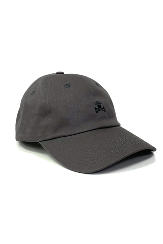 Mini Crossbones Dad Hat - Grey
