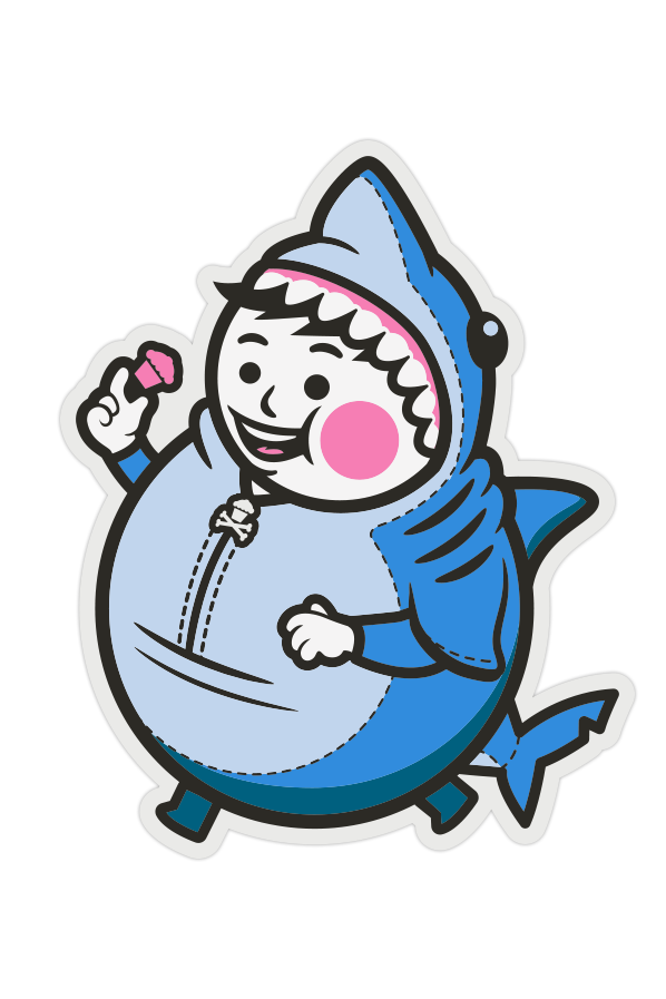 Big Kid Shark Sticker