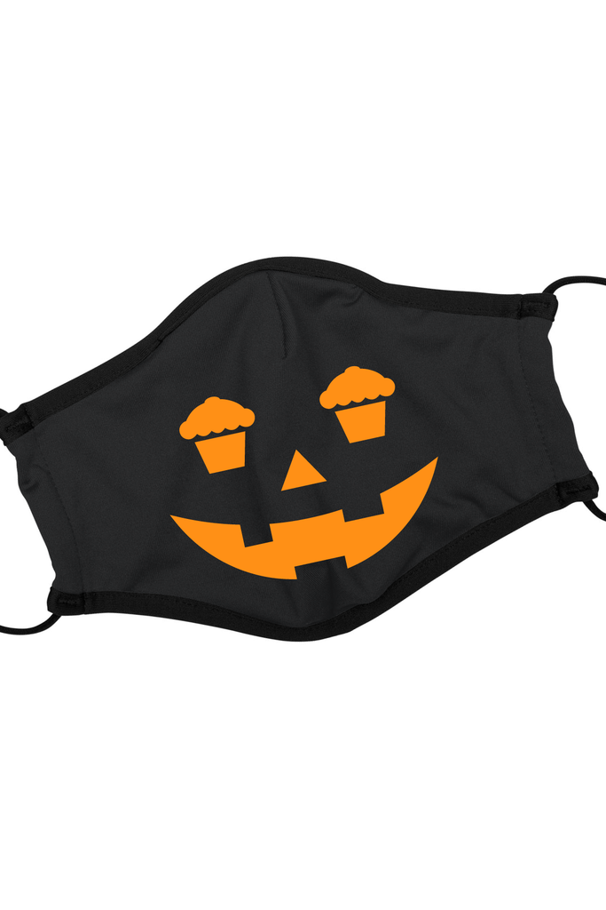 Cake-O-Lantern Face Mask W/ Adjustable Ear Strap-glitch