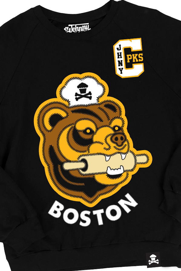 Boston Stitch Bear Crewneck (BOSTON EXCLUSIVE)
